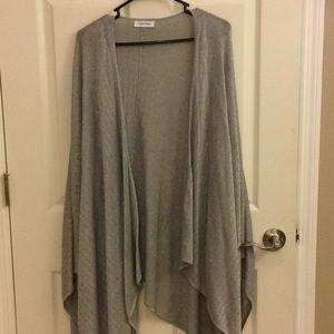 Gray and silver wrap/shawl